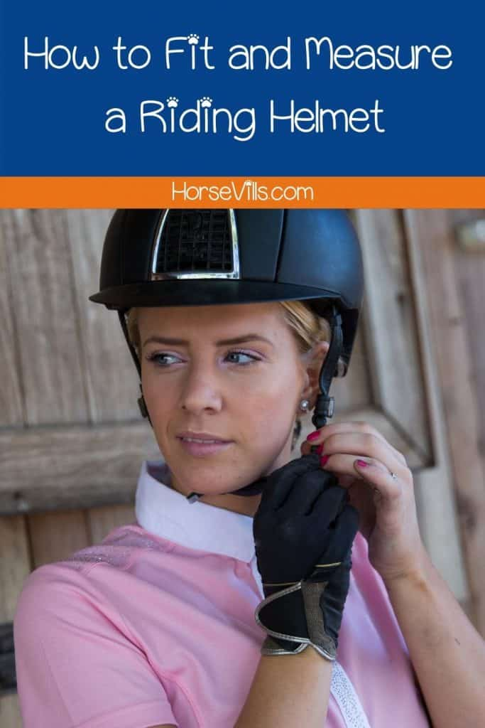 an equestrian lady wondering how to fit a riding helmet
