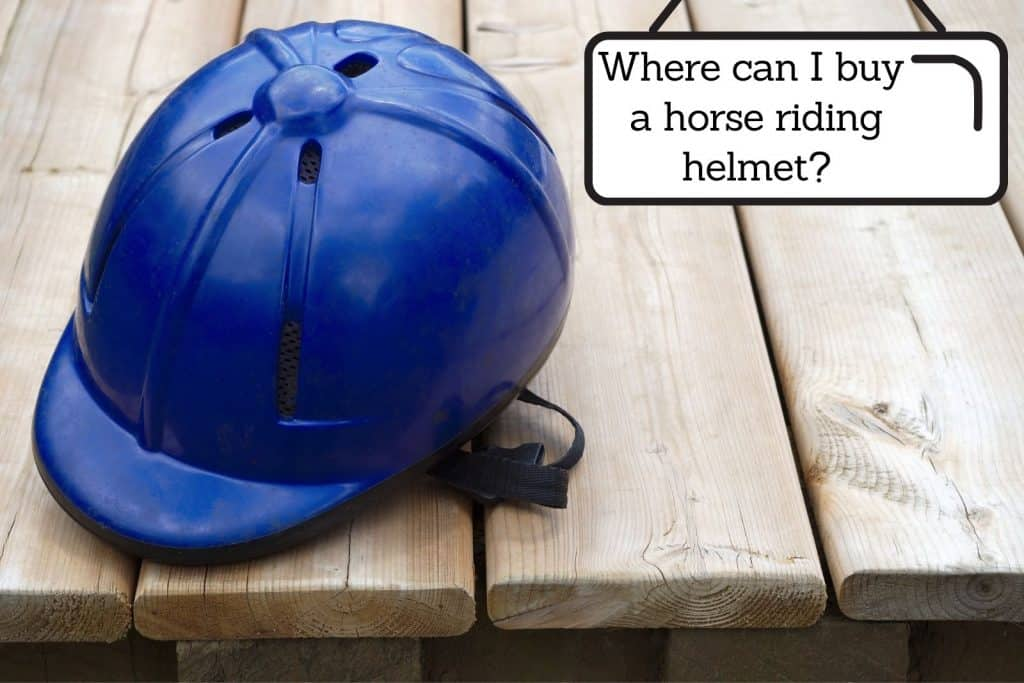 blue horse riding helmet