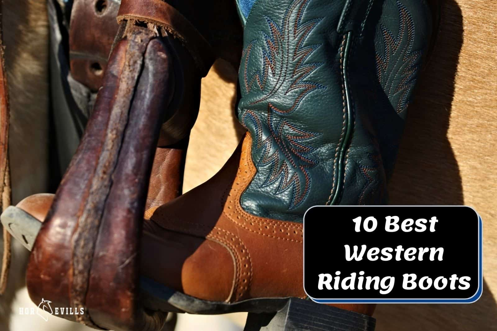 close-up shot of one of the best western riding boots