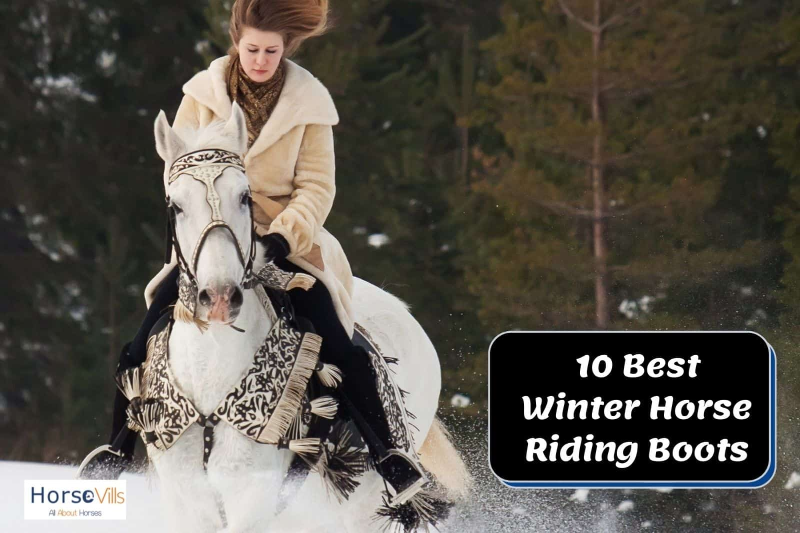 a lady riding a horse while using her best winter horse riding boots